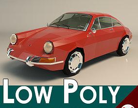 Low Poly Sports Car 3D model