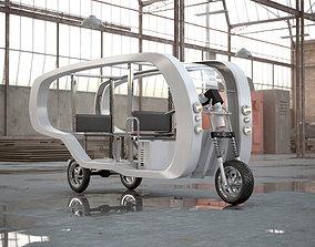 Electronic Future Rickshaw 3D print model