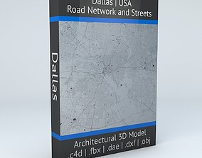 Dallas Road Network and Streets 3D