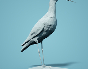 Zwarte Ruiter Low Poly Bird 3D print model