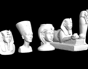 Egyptian statues 3D