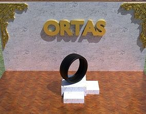 ORTAS TIRE NO 45 GAME READY AND 3D PRINTABLE