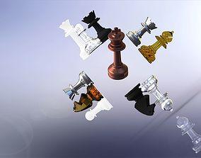 MILOSAURUS Staunton-style Chess Set 3D printable model