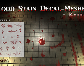 3D asset Blood Decals - Game Ready - Unity SRP URP HDRP