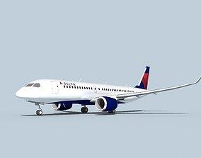 Bombardier CS100 Delta 3D model