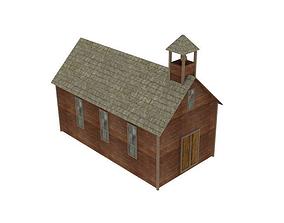 Wooden church 3D model