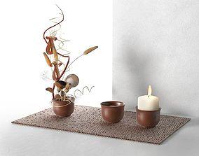 Ikebana Composition 3D model