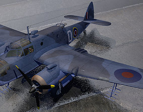 medium Bristol Beaufort Mk-2A 3D