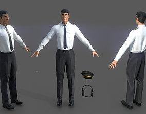 Airline captain 3D model