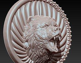 3D printable model wolf pendant gold