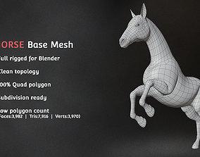 3D asset Horse Base Mesh