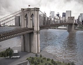 3D Brooklyn Bridge New York City