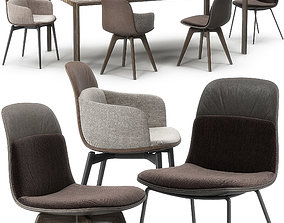 3D Molteni Barbican Chair set