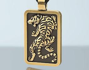 Tiger pendant for men 3D print model