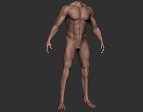 realtime Male Body Anatomy Base Model Vol1