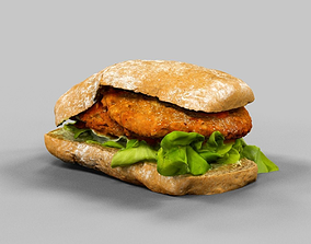 Sandwich 3D model VR / AR ready