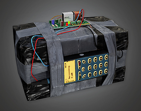 3D asset Explosive Device 2 BHE - PBR Game Ready
