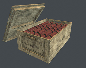 3D model Box With Dynamite Packs PBR Game Ready