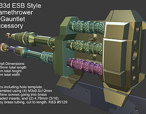 ESB Style Flame Thrower Mandalorian 3D printable model 1