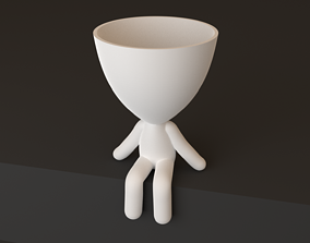 Robert plant pot style 3D printable model STL OBJ 3MF PLY