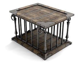 Ancient Wooden Cage 3D asset
