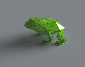 Frog lowpoly 3D print model realtime