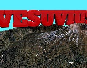 Mountain Vesuvius volcano 3D asset
