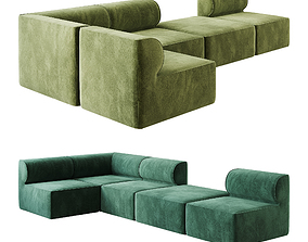 3D Eave Modular Sofa option 02