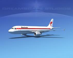 Airbus A320 LP Martinair 3D asset