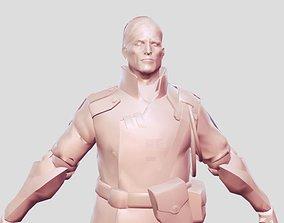 3D printable model man soldier old