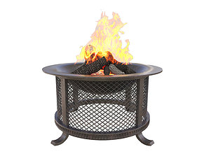 fire pit fireplace 3D