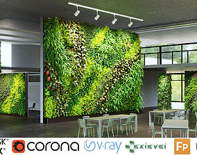 3D model Green wall Collection - Include GrowFX and Mesh