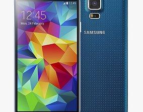 electronics Samsung Galaxy S5 Blue 3D
