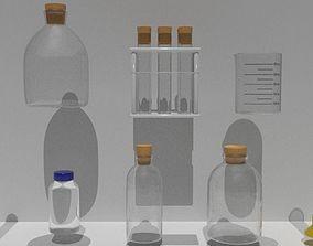 PBR Labkit bottles houseware 3D model