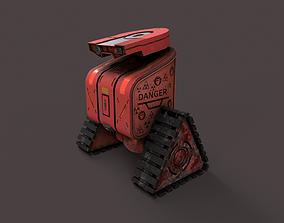 3D model low-poly Sci-Fi robot F1