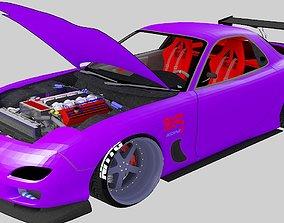 3D asset SPORT CAR RX7