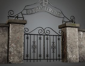 CEM - Cemetery Gate 2 - PBR Game Ready 3D asset