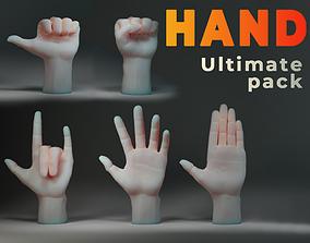 3D asset Hand IMM Brush