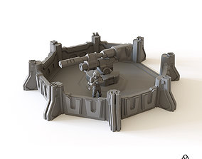 Sci fi Artillery Emplacement for tabletop 3D print model
