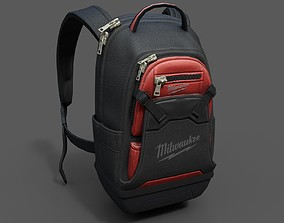 Human Backpack scifi 3D asset