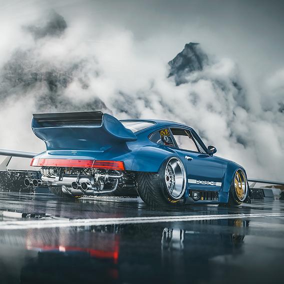 Porsche 911 rwb scifi