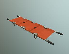 3D model game-ready stretcher