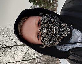 Oni4 half mask 3D printable model