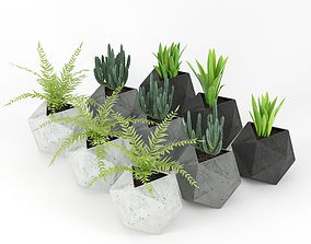 Concrete Plant 01 3D ornamental