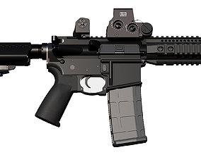 M4 M16 Selective Fire Short Barreled Rifle 3D