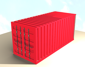 pack 3D model Cargo Container