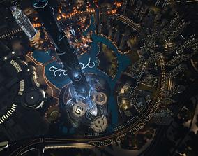 Dubai downtown landmark 3D