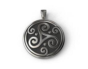 Celtic pendant 3D printable model jewels