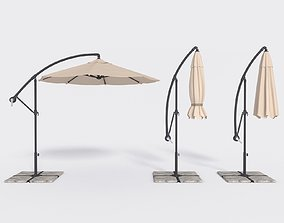 Umbrella Deck Parasol 1 3D asset