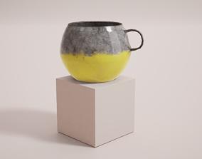 3D asset Hand Made Artisan Mug Cup - PBR Game Ready -